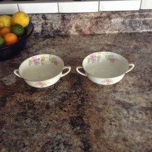 TK Thun Bohemia China SPRINGTIME Soup Bowls